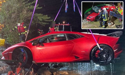 Lamborghini owner reverses his supercar into 50ft-deep Austrian lake