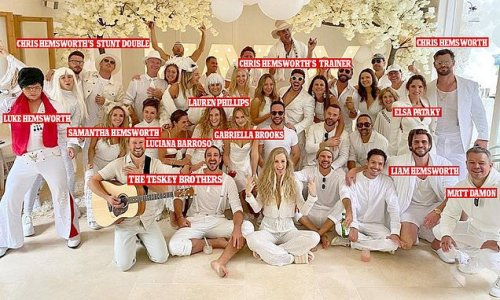 Inside Chris Hemsworth and Elsa Pataky's epic 'white party'