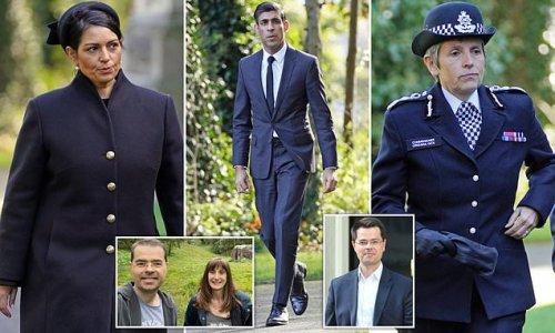 Priti Patel and Rishi Sunak among those at James Brokenshire's funeral