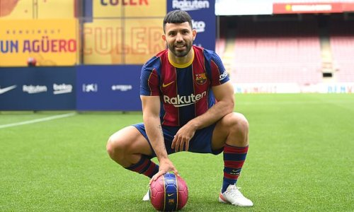 Sergio Aguero 'on track to make his Barcelona debut next month'