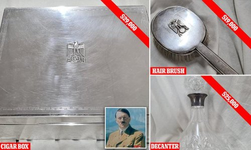 A cigar box belonging to Hitler was sold for $29,000 at Perth auction