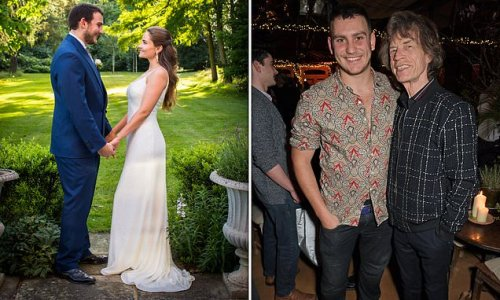 TALK OF THE TOWN: Mick Jagger's son Gabriel ties the knot