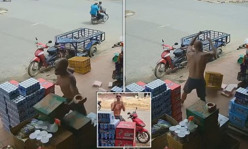 Man wrecks Cambodian shop he claims won't serve him because he's white