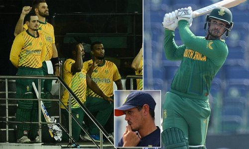 De Kock slams South Africa board for FORCING players to take the knee