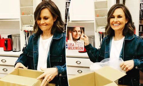 Lisa Wilkinson proudly unboxes her highly anticipated autobiography