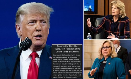 Trump bashes re-election chances of Lisa Murkowksi and Liz Cheney