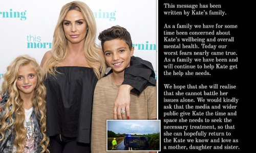 Katie Price's family rally round star as she is arrested after crash