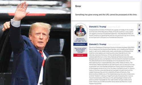 Donald Trump's new 'From the Desk of...' website CRASHED