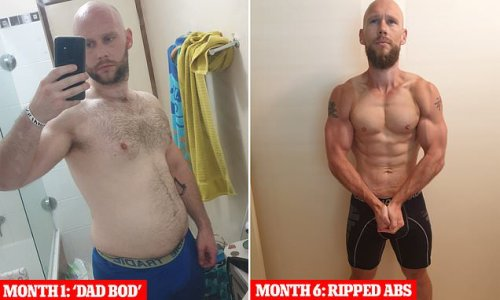 How father who drank beer every day went from 'dad bod' to ripped abs