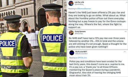 Police and teachers slam 'whingeing' unions over 3% pay rise