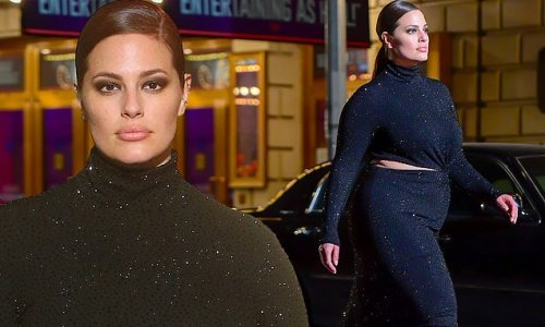 Ashley Graham struts her stuff at Michael Kors outdoor show for NYFW