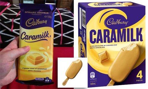 Cadbury Caramilk ice cream launches in Australia