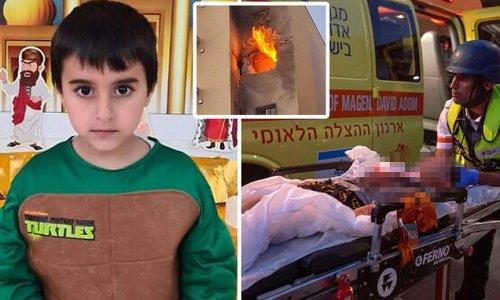 Pictured: Israeli boy, five, killed by Hamas rocket shrapnel