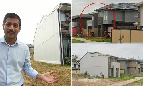 The strange suburb in Sydney's south-west with three half-houses