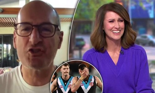 AFL: Sunrise host David Koch snaps at Nat Barr over Port Adelaide loss