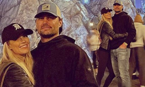Christina Haack cuddles fiance Joshua Hall after her ex gets married