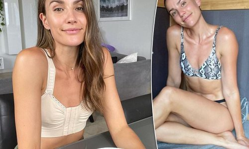 Rachael Finch shows off her fit physique in a bikini