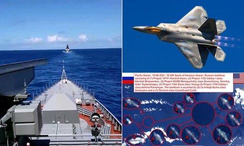 Russian fleet 35 miles off Hawaii practices sinking aircraft carrier