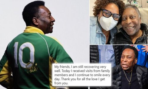 Pele posts from hospital to assure fans he's 'recovering very well'