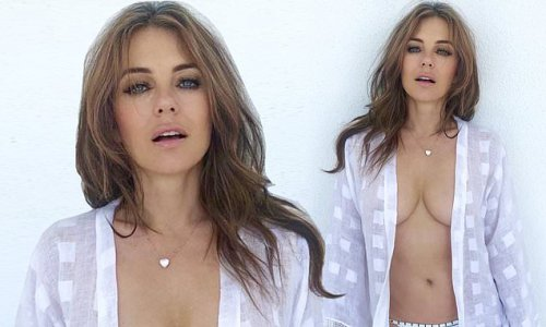 Elizabeth Hurley, 56, sets pulses racing as she poses topless