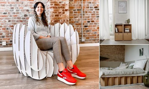Cardboard furniture is the new trend sweeping the interior world