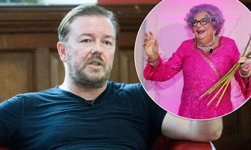 Ricky Gervais claims he 'can't name a funny woman'