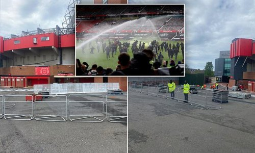 Man United build barriers around Old Trafford as more protests planned