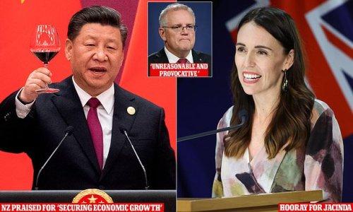 China's communist regime celebrates the Jacinda Arden