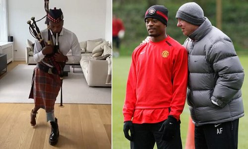 Evra reveals Ferguson jokingly threatened to SUE HIM for bagpipes vid