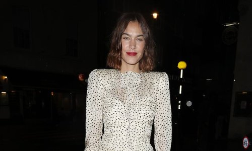 Alexa Chung leads the late night glamour in a thigh-skimming minidress