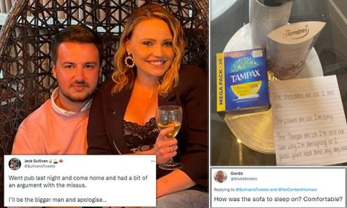 Man is slammed for buying his girlfriend tampons after heated row