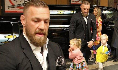 Conor McGregor celebrates his son Rían's christening at the Vatican