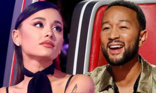 The Voice: Ariana Grande blocks rival John Legend from four-chair turn