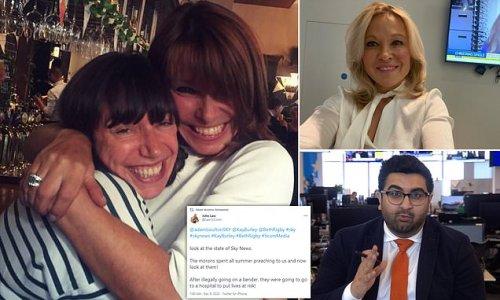 Kay Burley and Beth Rigby among four Sky News over 60th birthday bash