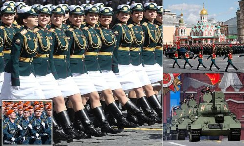 Putin's glamorous troops rehearse for Sunday's WW2 Victory Day parade