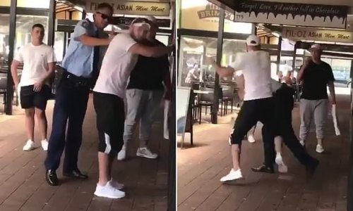 Man PUNCHES policeman in face after being pepper-sprayed in Sydney