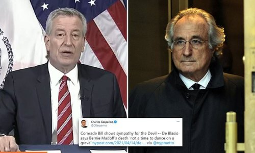 NYC mayor Bill De Blasio branded a 'buffoon' for Madoff comments