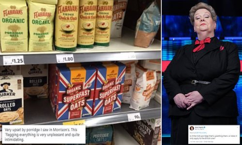 Anne Hegerty baffled by person 'upset' seeing Union Flag on porridge
