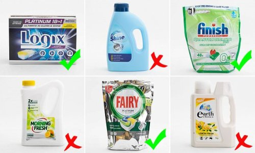 Consumer experts rank dishwasher detergents from best to worst