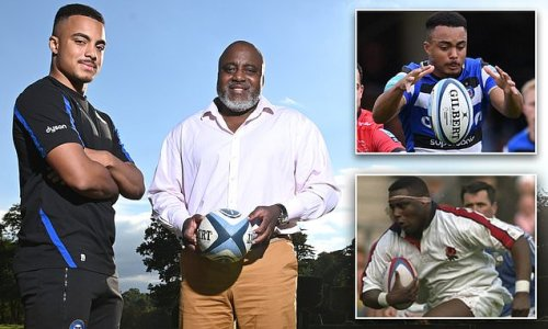 Former England star Steve Ojomoh is revelling on the rise of his son