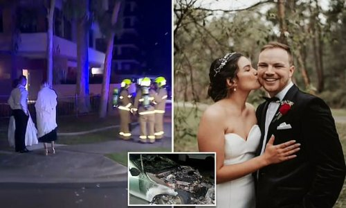 Car fire forces Penrith newlyweds to spend wedding night with parents