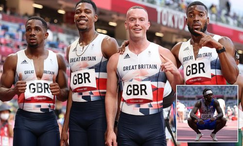GB cruise into men's 4x100m relay final but favourites USA crash out