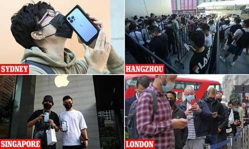 iPhone 13: Apple fans flock to stores to get hands on £799 smartphone