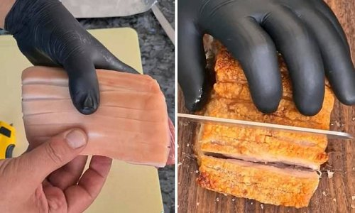 Foodie reveals how to make crispy pork belly at home