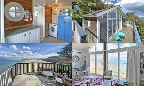 Britain's most expensive beach hut? Cabin hits market for £400,000