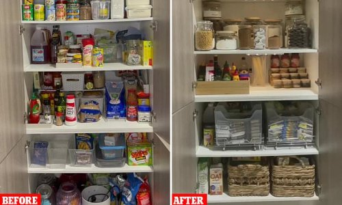 Woman unveils spectacular pantry makeover with Kmart budget buys