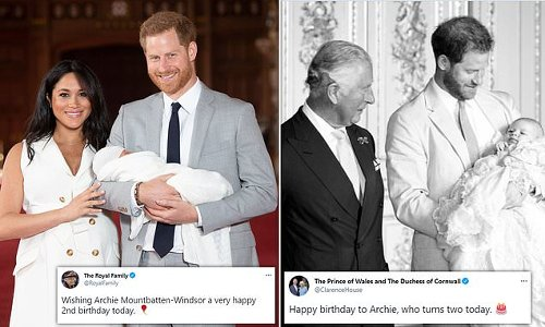Happy birthday, Archie! Royal Family leads well-wishes as he turns two