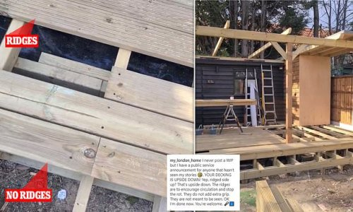 Homeowner reveals why your decking is probably upside down.
