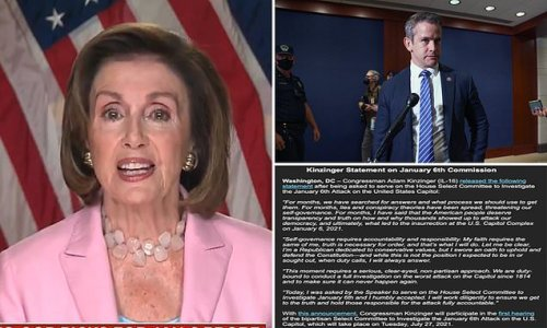 Adam Kinzinger accepts Pelosi's Capitol riot committee appointment