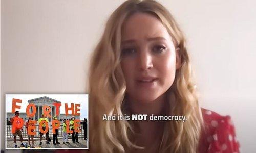 Jennifer Lawrence says Republicans trying to pass stricter voting laws